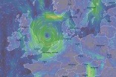 Cyklon znajduje się obecnie nad morzem Północnym.
