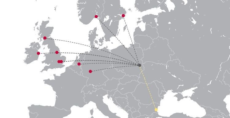 Obecna siatka połączeń realizowanych z Portu Lotniczego Lublin Świdnik.