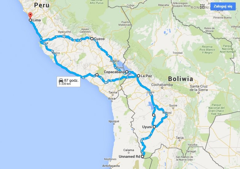 Lima, Cusco, Copacabana, La Paz, Uyuni, pustkowia, znowu Uyuni i La Paz, Arequipa, Ica, Lima. To wszystko w równy miesiąc.