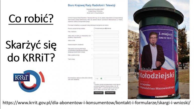 Towarzystwo Dziennikarskie namawia, by zgłaszać do KRRiT skargi na to, jak TVP informuje o kampanii wyborczej. Przy czym szef Rady kandyduje w wyborach samorządowych z list PiS.