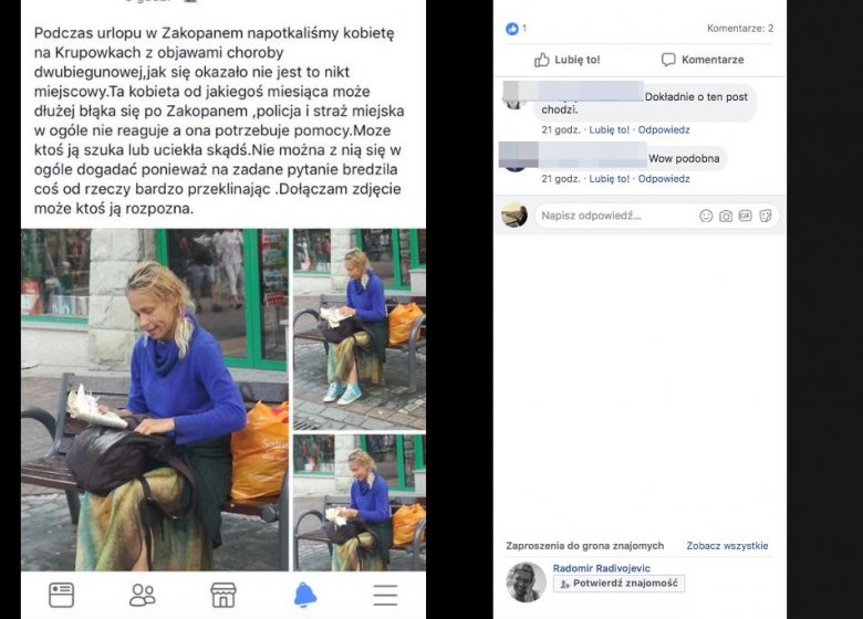 W Zakopanem na Krupówkach pojawiła się kobieta - zdaniem wielu - przypominająca zaginioną przed laty Andżelikę Rutkowską.