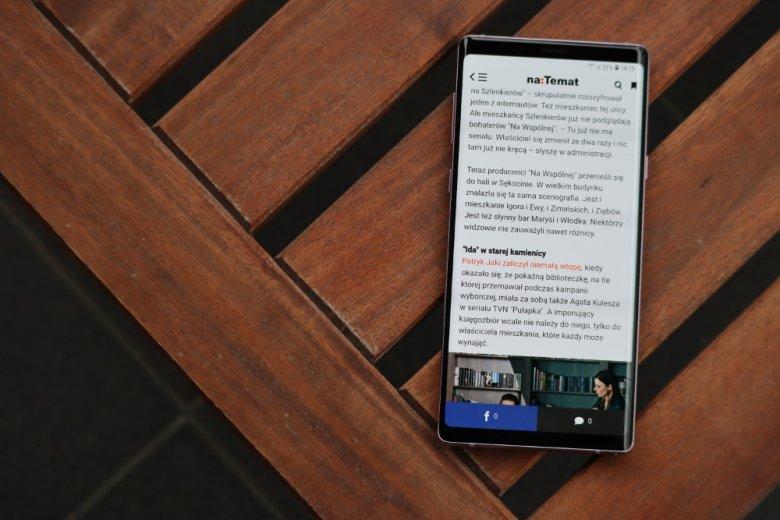 Przeglądanie sieci na Note 9 to przyjemność.
