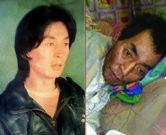 Lobsang Goszul przed - i po więzieniu.
