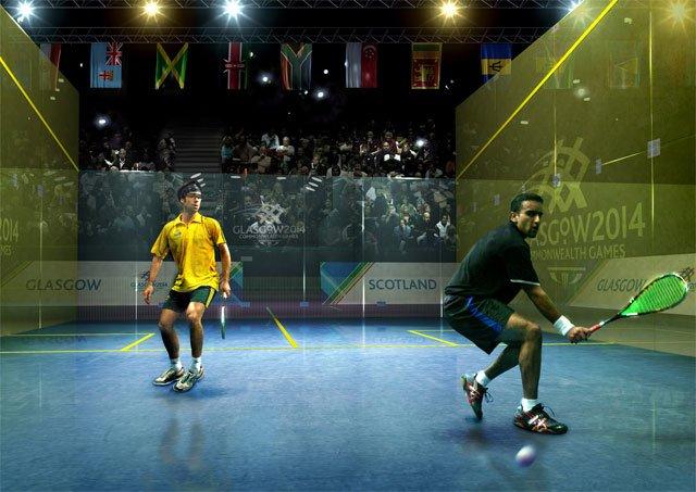 Zdjęcie z jednego ze squashowych turniejów