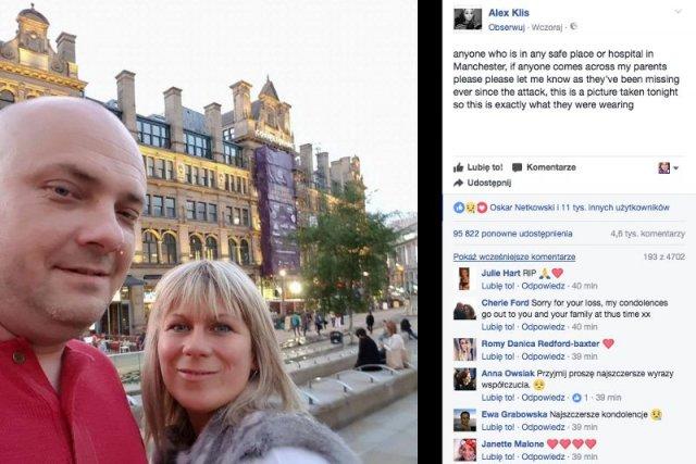 Internautki i internauci składają kondolencje młodej Polsce, której rodzice zginęli w zamachu terrorystycznym w Manchesterze.