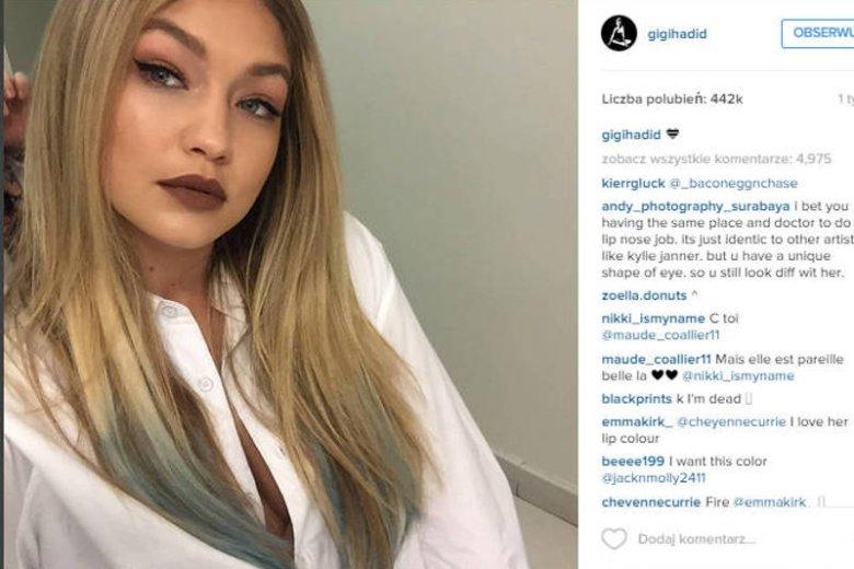3c3f1cc1ad Modelka Gigi Hadid pokochała inspiracje z lat 90. Nosi zarówno nasycone  kolory na ustach