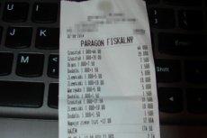 To kolejny paragon przedstawiający drogie szaszłyki od firmy spod tego samego adresu.