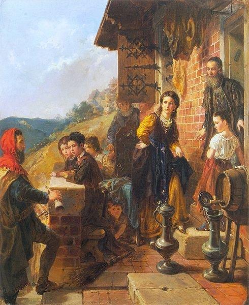 Kazimierz Wielki u Esterki, Władysław Łuszczkiewicz, Lwowska Galeria Sztuki.