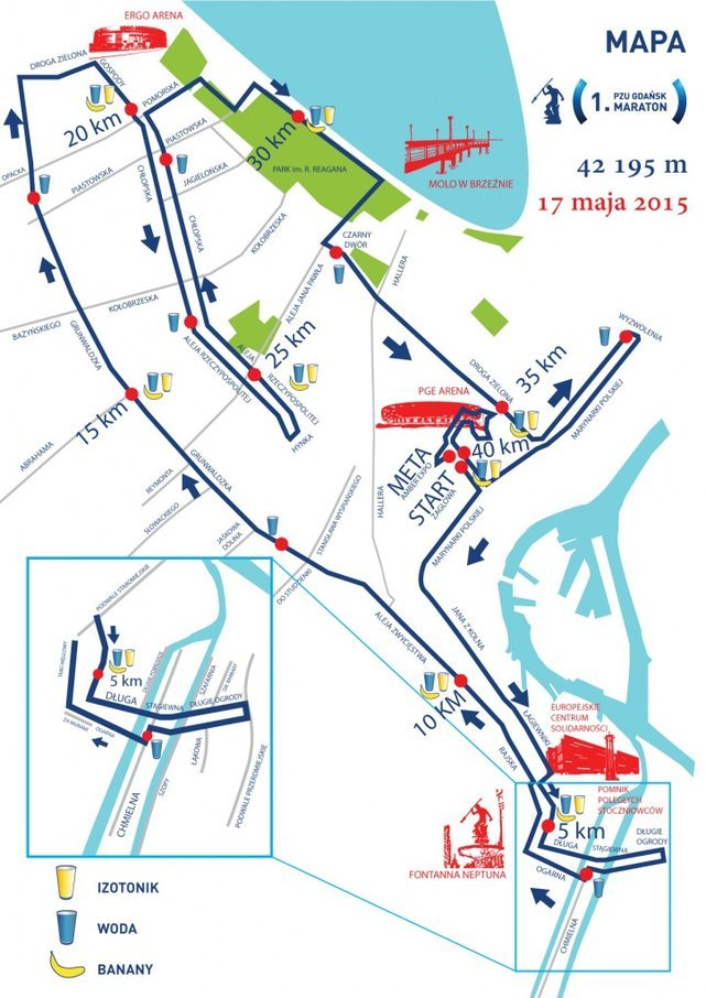 Tędy pobiegną zawodnicy 1. PZU Gdańsk Maraton