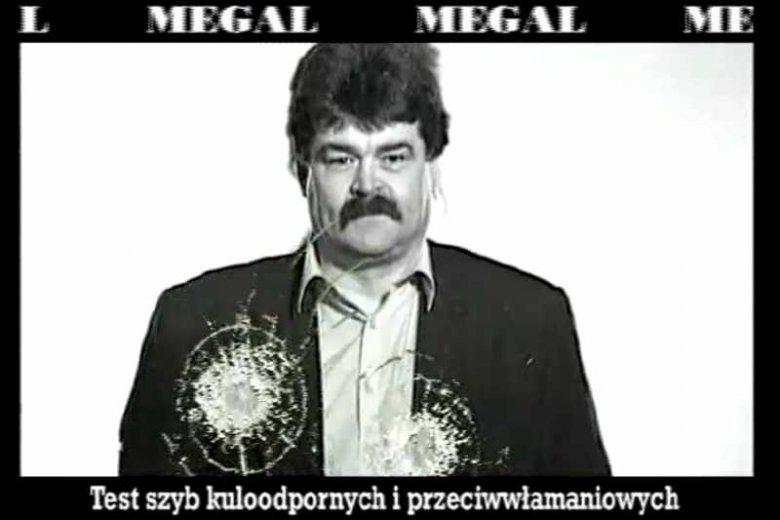 Kadr z reklamy firmy Megal