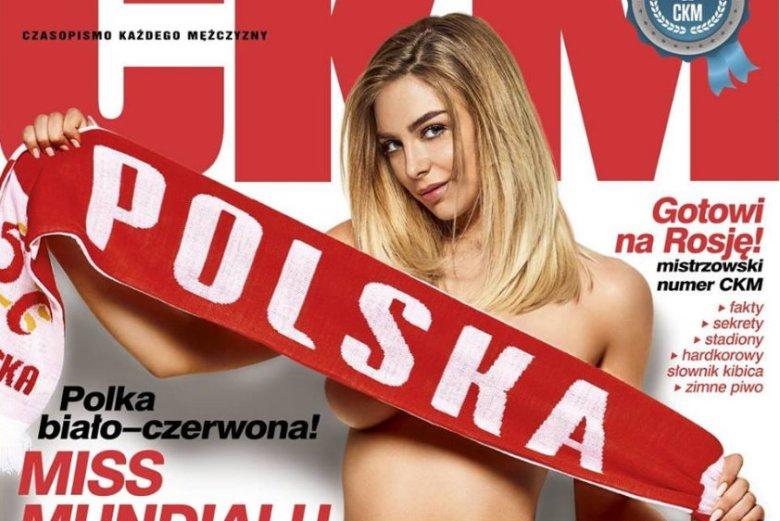 """Marysia Horbulewicz na okładce magazynu """"CKM""""."""