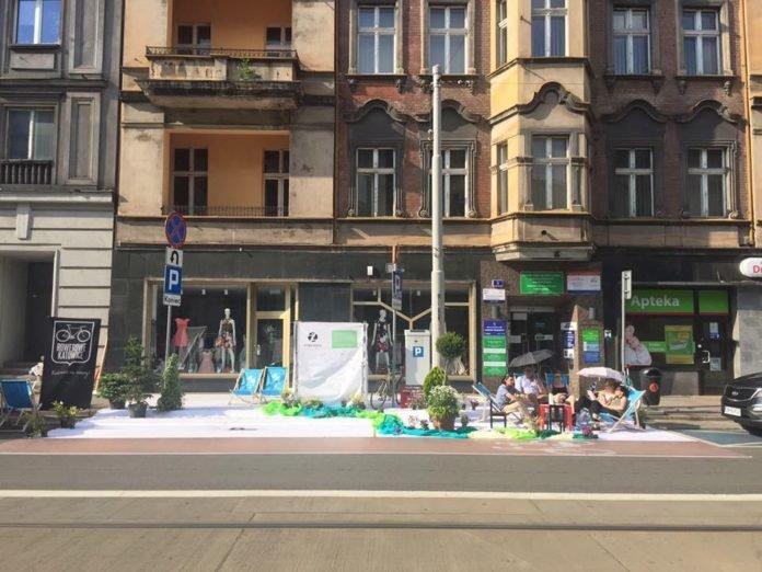 Happening w Katowicach.