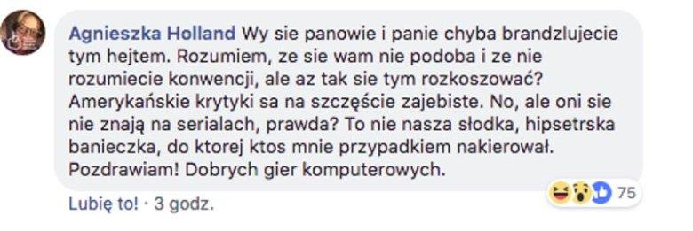 """Agnieszka Holland ostro odpowiedziała na hejt na serial """"1983""""."""