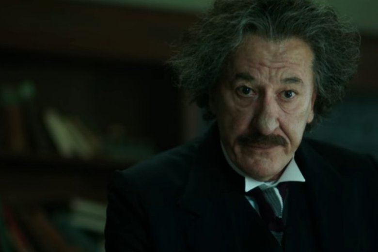 """Geoffrey Rush w roli Einsteina w pierwszym sezonie serialu """"Geniusz"""""""