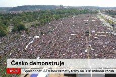 Na antyrządowym proteście w Pradze zgromadziło się ponad 250 tysięcy osób.