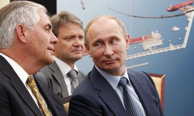 Rex Tillerson i Władimir Putin