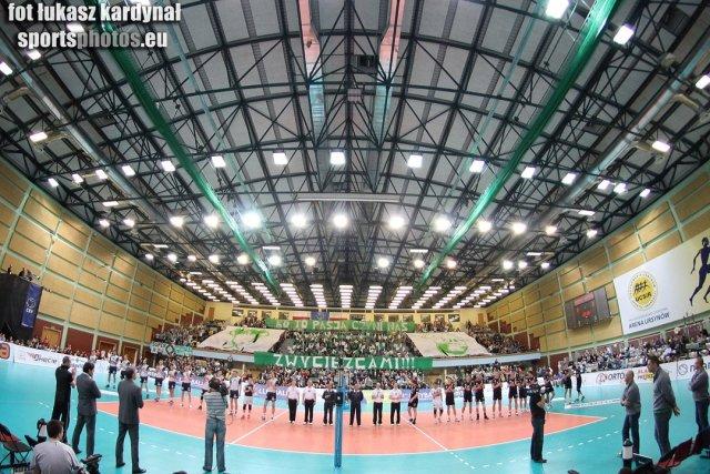 Oprawa meczu finałowego 2012 CEV Volleyball Challenge Cup - Men, 27.03.2012, AZS Politechnika Warszawska - Tytan AZS Częstochowa