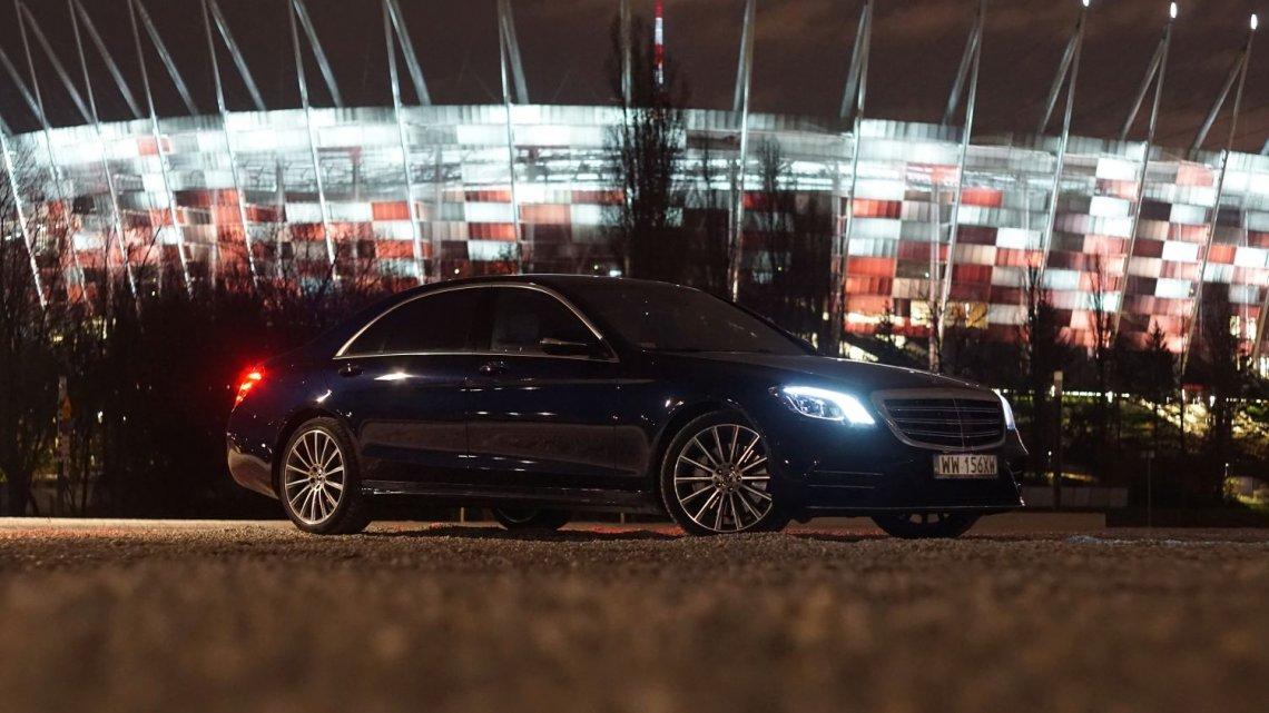 Nowy Mercedes klasy S wygląda najlepiej chyba jednak nocą.