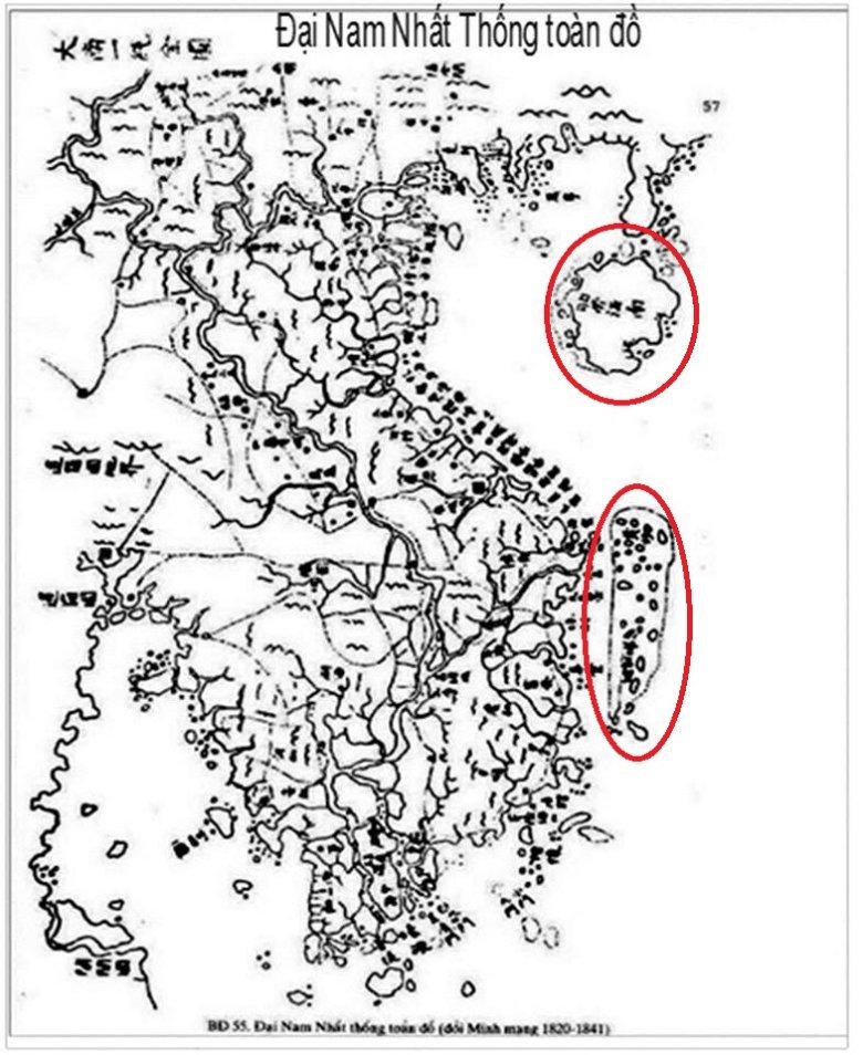 Zaznaczony obszar jest miejscem sporu pomiędzy Wietnamem, a Chinami.