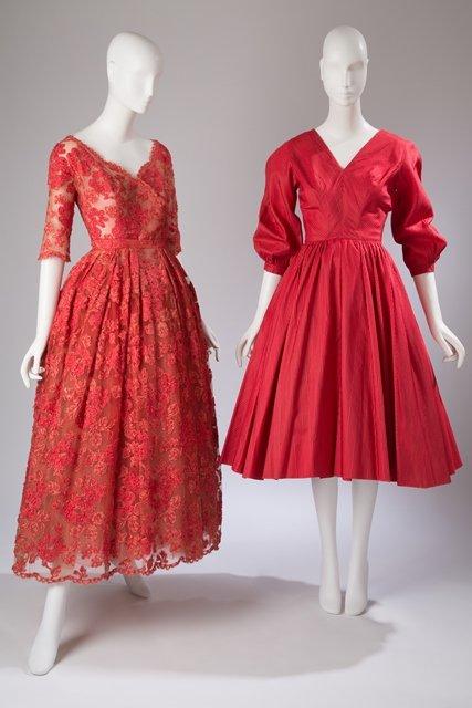 Wieczorowe suknie Christiana Diora z ok. 1950 r.
