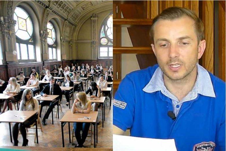 Tomasz Rożek dostał tylko 70 proc. punktów z analizy własnego tekstu. Jego zdaniem klucze odpowiedzi to błąd.