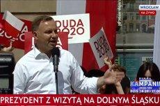 Andrzej Duda w ramach kampanii z wizyta we Wrocławiu.