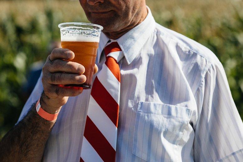 Piwo na pikniku Samoobrony kosztowało 5 zł.