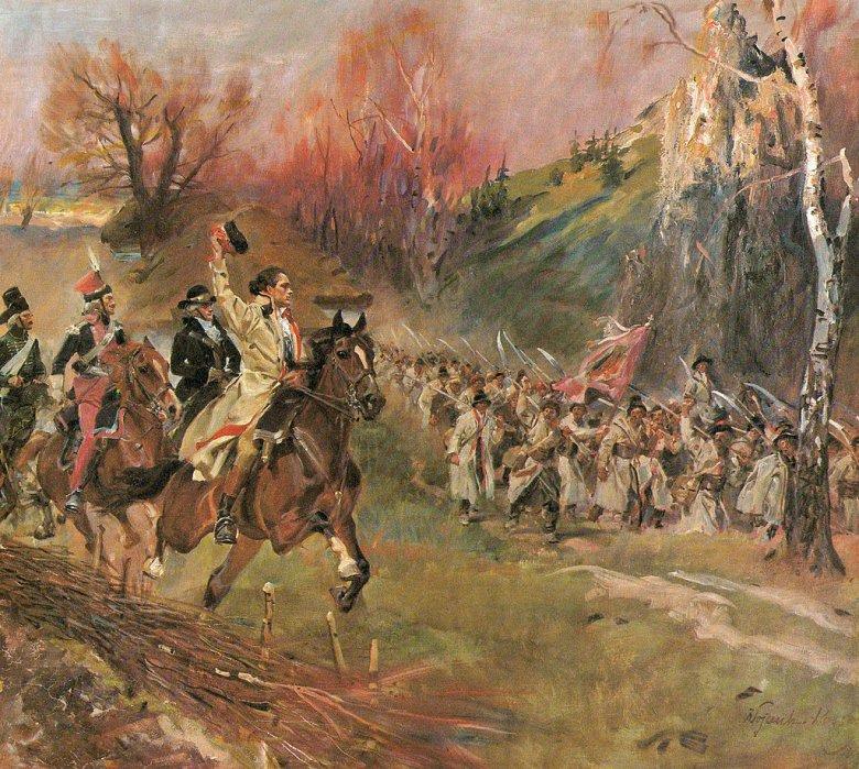 Wojciech Kossak, Kościuszko z kosynierami.