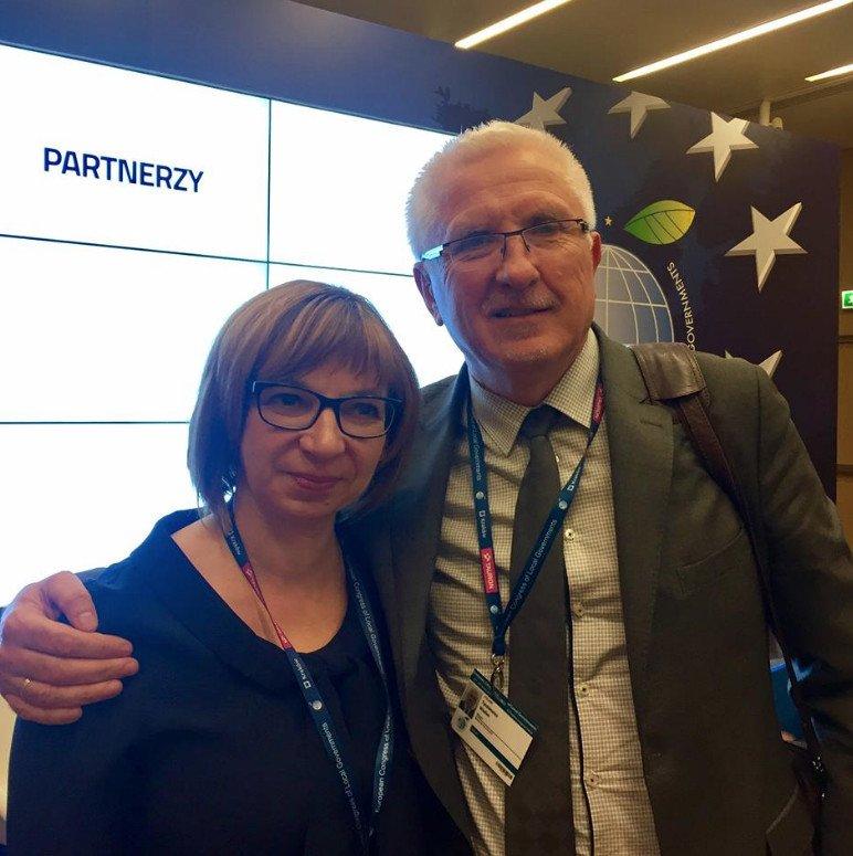 Z prezydentem Nowej Soli, Wadimem Tyszkiewiczem.