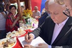 Jarosław Kaczyński promuje Jacka Sasina w Chełmie.