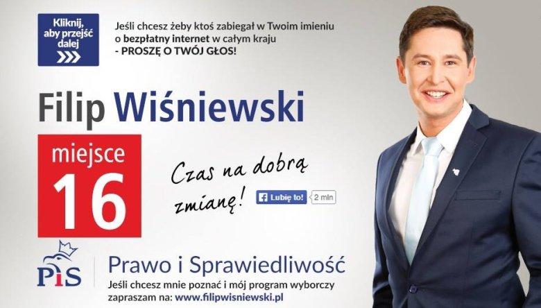 Filip Wiśniewski w wyborach parlamentarnych w 2015 roku był jednym z najmłodszych posłów PiS.