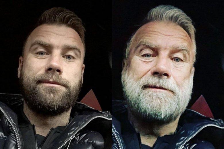 Przerabianie zdjęć w Face App opanowało media społecznościowe. Na zdjęciu przerobiona twarz Artura Boruca.