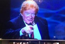 """Gala Orłów z """"Trumpem"""" naśmiewającym się z """"dobrej zmiany""""."""