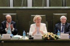 Prezes TSUE Koen Lenaerts, I prezes SN Małgorzata Gersdorf  i prezes izby cywilnej SN Dariusz Zawistowski