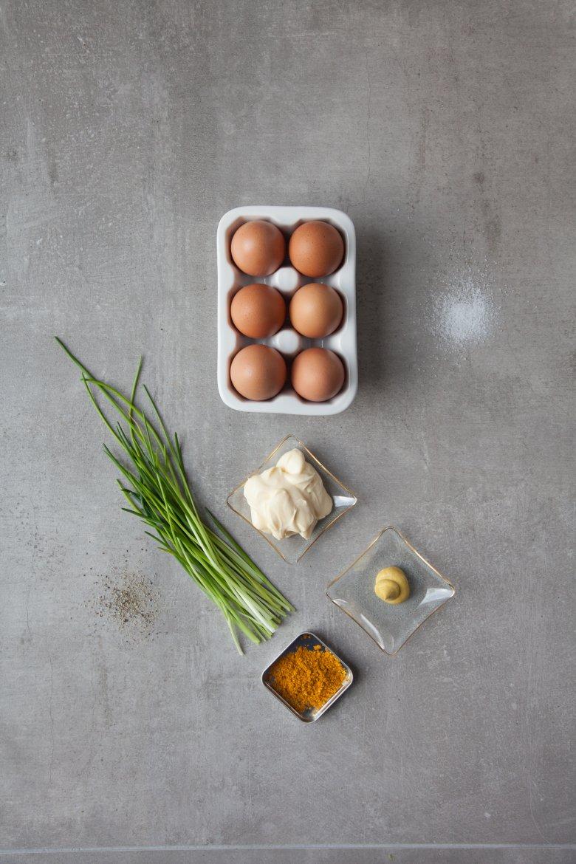 Składniki na pastę jajeczna