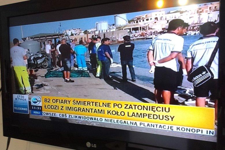 W wypadku u wybrzeży Lampedusy zginęło kilkadziesiąt osób.