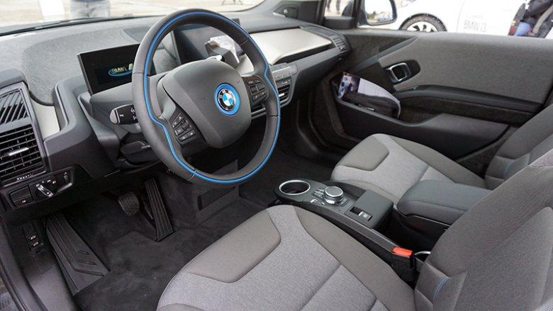Wnętrze BMW i3.
