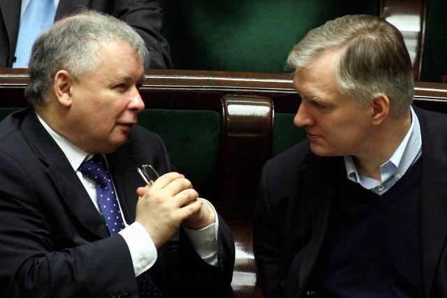 Jarosław Gowin zapewnia, że nie spotkał się z Jarosławem Kaczyńskim. Na zdjęciu: Kaczyński i Gowin w 2008 roku.