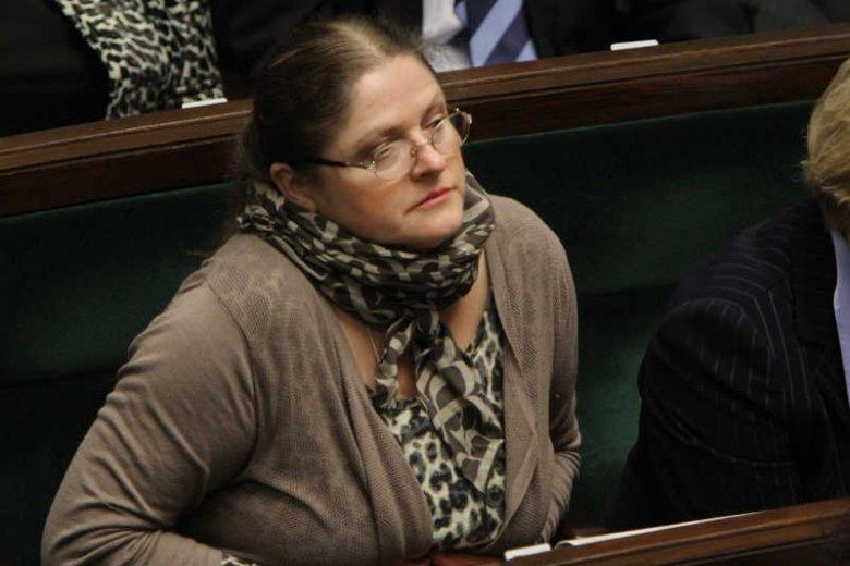 """Krystyna Pawłowicz chciała, by sąd i prokuratura usunęły jej """"spi***alaj"""" z sejmowego stenogramu."""