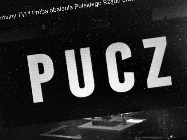 """Zapowiedź dokumentu """"Pucz"""" nakręconego przez TVP o proteście opozycji w Sejmie w grudniu 2016 / styczniu 2017 r."""