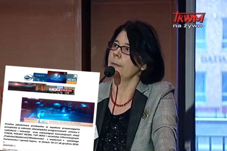 KRRIT odtajniła raport autorstwa Hanny Karp, na podstawie którego telewizja TVN24 miała zostać ukarana karą 1,5 mln złotych za relacje z sejmowego kryzysu w grudniu 2016 roku.