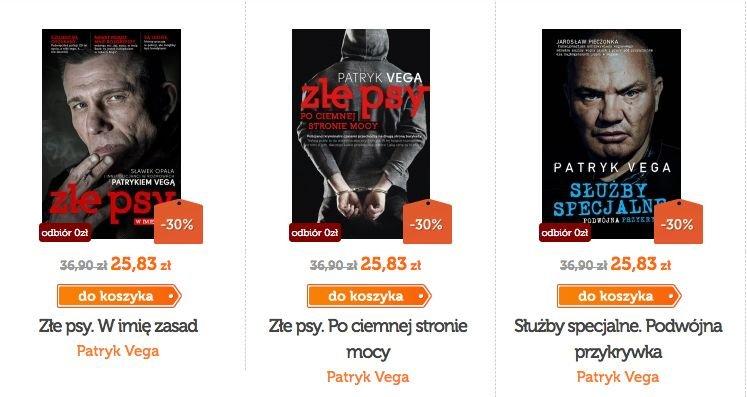 Policyjne książki Patryka Vegi to bestsellery.
