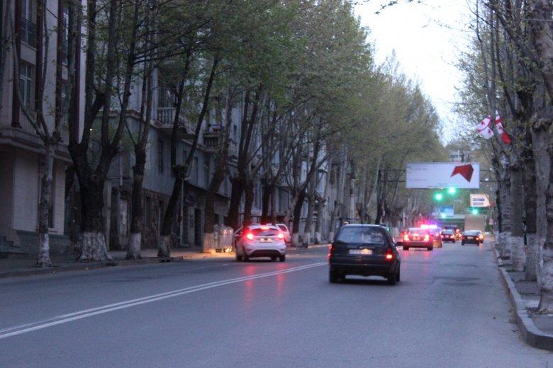 Ulica Lecha Kaczyńskiego w Tbilisi.