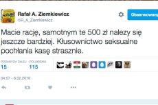 Oto zdanie Ziemkiewicza o samotnych matkach.