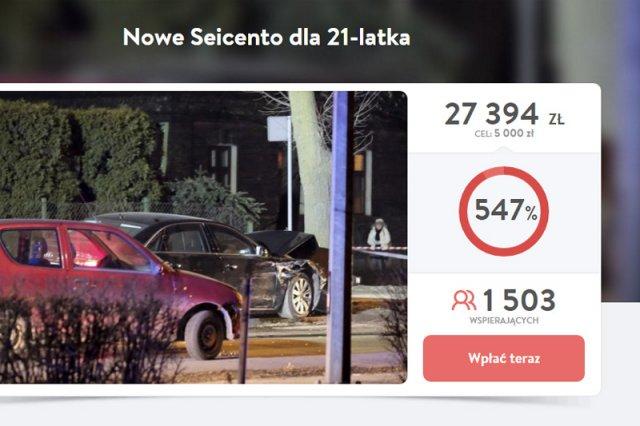 Nieprawdopodobne wsparcie dla kierowcy seicento, który był uczestnikiem wypadku z kolumną premier Szydło.