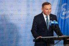Prezydent Andrzej Duda przemawiał na zgromadzeniu ONZ w Nowym Jorku.