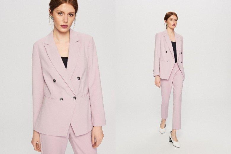 Stawiasz na oryginalność a sukienki to nie twoja bajka? Damskie garnitury to świetna i elegancka alternatywa. Marynarka 179,99 zł, spodnie 119, 99 zł