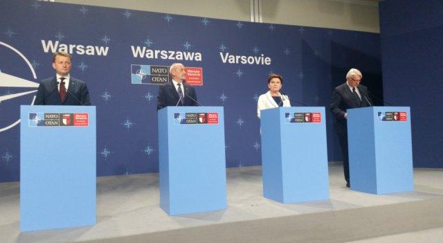 Konferencja prasowa premier Beaty Szydło po Szycie NATO
