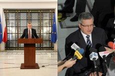 Prof. Gliński przemawiał w piątek z mównicy na specjalnie zorganizowanej konferencji, a prezydent Komorowski z dziennikarzami rozmawiał na sejmowych schodach.
