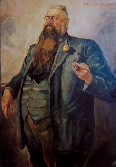 Franc Fiszer, stały bywalec warszawskich kawiarni, myśliciel.